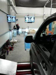 Bremsprüfstand Pkw mit TV