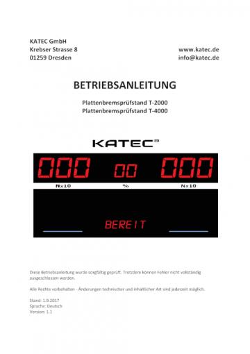 Betriebsanleitung KATEC T2000 / T4000